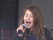 Myra sings at Brittany's Project charity car show Morgan City Nov 2014