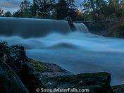 Overflowing Stroudwater Falls At Twilight Tonight.