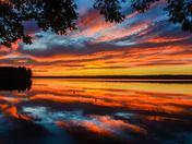 Sunset over Messalonskee