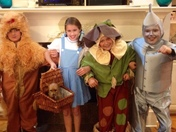 Follow The Yellow Brick Road-a Group Of 4th Graders Perfectly Playing Their Part