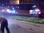I-235 rollover crash x 2