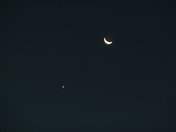 Conjunction of Moon and Venus, October 8, 2015