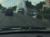 Accident with a broken water main