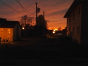 sunset in salem,indiana