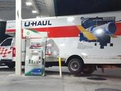 U haul truck missed a turn. At BP Gas station at 436 BP Altamonte Springs. Polic