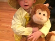 Curious George ready to Trick or Treat