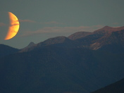Rising Lunar Eclipse at Sunset