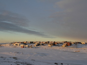 Sunrise in Cambridge Bay