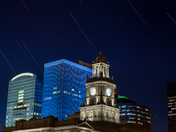 Star Trails over downtown Des Moines