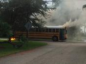 PB SCHOOL BUS BURNING