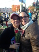 my girlfriend waited in the cold for me to Finnish my first 5K!!! I sooo love he