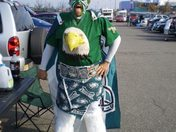 Birdman prepping before a game at the Linc!