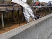 hwy 99 big rig off the bridge