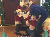 Kayden LOVES Santa!