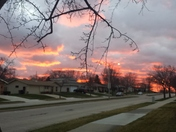 Cudahy Sky on Fire (Sunset on December 10)
