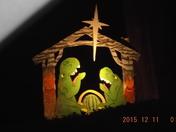 house with odd nativity scene