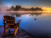 White Stone lake early morning sunrise