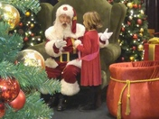 Santa singing happy birthday at Mayfair mall