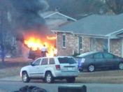 Car Fire in Alma 12-21-2015 7:30 am