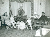 1950 Conley Christmas at Vine St in Everett, MA