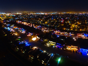 Aerial drone photo of Christmas Lights in Rocklin, CA