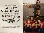 Military Family Christmas Card