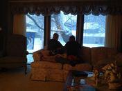 Grandsons Loving the Surprise Snow