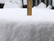8 inches of snow in West Omaha on Christmas eve