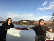 It so warm out we got the boat out for a ride