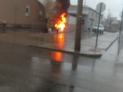 Truck fire Dayton ,Ky point laundry