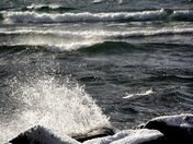 Waves Splashing Against the Shore