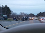 Roll over accident with serious injuries... 2 cars involved