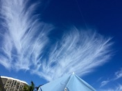 Feathery clouds over Nettles Island