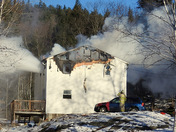 Fully involved House Fire People Injuried