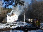 Fully Involved House fire residents injuried in fire In Farmington