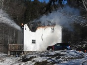 Fatal Fire In Farmington FIRE THRU the Roof upon arrival