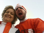Matt in his Clemson attire.