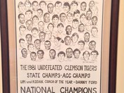 Kate Salley Palmer drawing of 1981 Clemson Championship Team