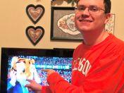 Clemson Senior Cheering on the Tigers
