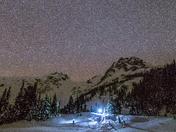 Beautiful night at Keith's hut