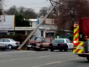 Man hits power pole on Auburn Blvd. 1/14/16