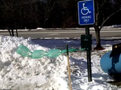 Windy Day outside Veterinarian's Office in Nashua, NH