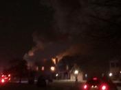 A big fire on 144 Meadow Creek drive