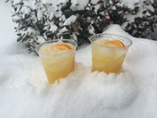 Orange Crushes in the snow