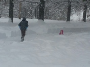 Kids in snow, one gets lost!  LOL!  Uniontown PA