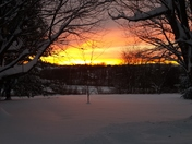 Beautiful sunset after the storm January 23, 2016