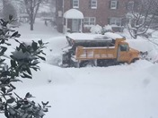 Snow plow stuck