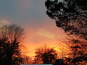 sunset at my house