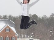 Lexi Snow Jumping