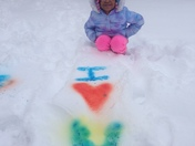 Snow Dying!! Snow painting is one of my favorite things to do with my Grand daug